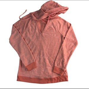ROXY PULLOVER CORAL HOODIE.